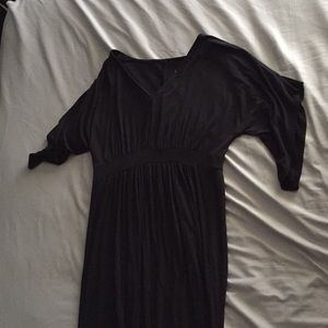 Isabel Maternity Black Dress